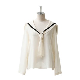 beautiful people - s.super lawn sailor collar blouse