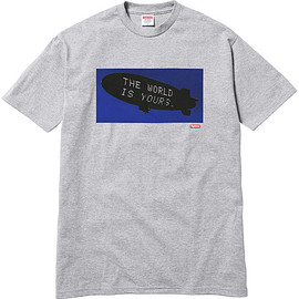 Supreme - Scarface ™ Blimp Tee ( Heather Grey )
