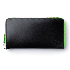 "HEAD PORTER - ""NEON"" WALLET (L) BLACK"