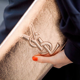 YVES SAINT-LAURENT - YSL Bronze Clutch