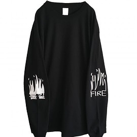 OMIYAGE - FIRE GRAFFITI L/S TEE (BLACK)