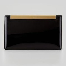 Yves Saint Laurent - Lutetia Patent Leather Clutch Bag