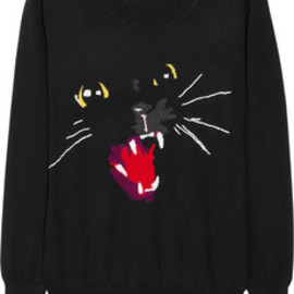 Markus Lupfer  - Cat intarsia merino wool sweater