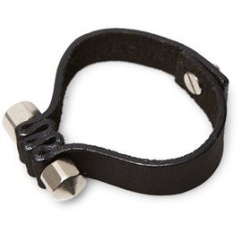 Yvonne Kone - Cone pierced leather wristband