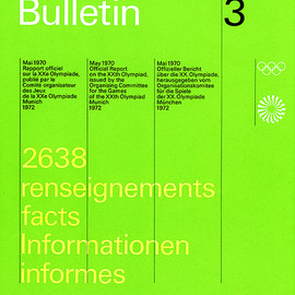 Munich Olympic - Bulletin 3, Designed by Otl Aicher, 1972