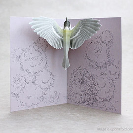 upon a fold - Tobidustry Tree Great Tit Pop-up Card