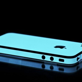 SlickWraps - Blue Glow in the Dark Skin for the iPhone 4