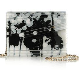 JIMMY CHOO - Candy printed acrylic and leather clutch