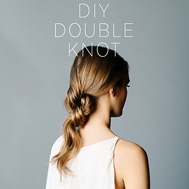 hair arrange - Double knot twist