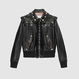 GUCCI - Studded leather bomber