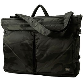 PORTER - 30th ANNIVERSARY - TANKER 2WAY GARMENT BAG ウッドランドブラック