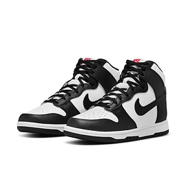 NIKE - Dunk High - White/Black/University Red