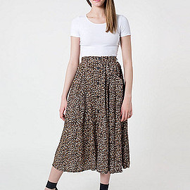 American Apparel - Rayon Button Up Long Skirt