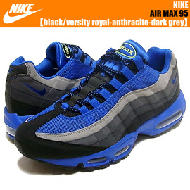 NIKE - AIR MAX 95 black/versity royal-anthracite-dark grey