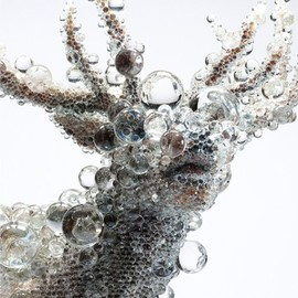 Kowei Nawa - Deer Glass Sculpture