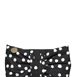 RED VALENTINO - DOTTED CANVAS BOW CLUTCH
