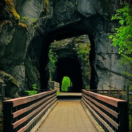 British Columbia - Old railroad tunnels in Hope