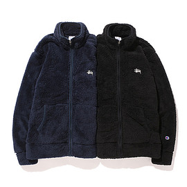 STUSSY - Sherpa Fleece Mock Jacket