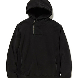 nonnative - DWELLER HALF ZIP HOODY COTTON SWEAT OVERDYED