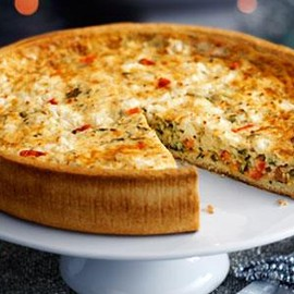 Marks & Spencer - Large Red Pepper, Feta & Spinach Quiche