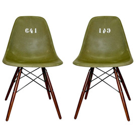 Two Rare Eames Chair for german soldier