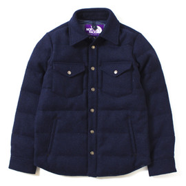 THE NORTH FACE PURPLE LABEL - Harris Tweed Down Shirt
