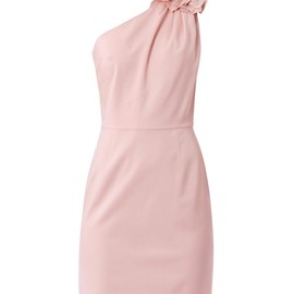 VALENTINO - One-shoulder rose detail fitted dress