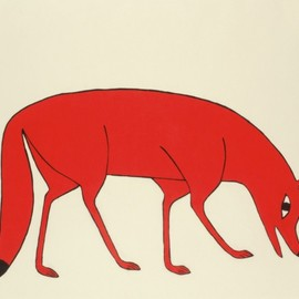 Kenojuak Ashevak - Red Fox