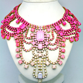 Doloris Petunia - One of a Kind Statement Necklace- Paris 3