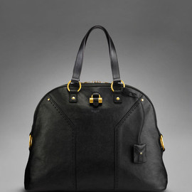Yves Saint Laurent - Oversized YSL Muse in Black Classic Leather
