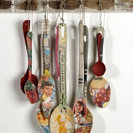 mod podge and spoons