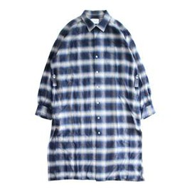 PHEENY - Ombre check shirt gown
