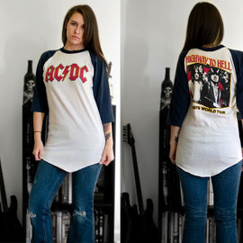 AC/DC 1979 Highway to Hell World Tour Concert Vintage Shirt - AC/DC 1979 Highway to Hell World Tour Concert Vintage Shirt