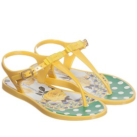 DOLCE & GABBANA - Girls Yellow Jelly Sandals, Dolce & Gabbana, Girl