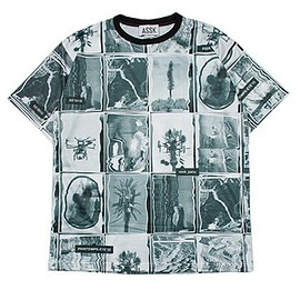 ASSK - WARPED COLLAGE T-Shirt - Black and White