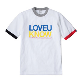 LOOPWHEELER - LW Tee LOVE U KNOW T-shirts