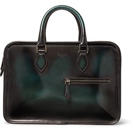 Berluti - Un Jour Mini Polished-Leather Briefcase