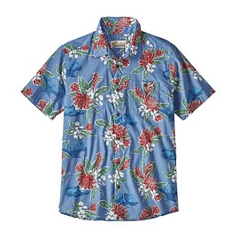 patagonia - M's Malihini Pataloha® Shirt, Cleanest Line: Railroad Blue/Static Red (CERS)