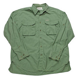 Columbia - Vintage 90s Columbia Outdoors Fishing Button Up Shirt Made in USA Mens Large