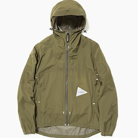 and wander - light rain jacket khaki