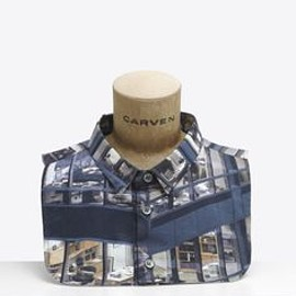 Carven, Michael Wolf - Printed Michael Wolf Collar