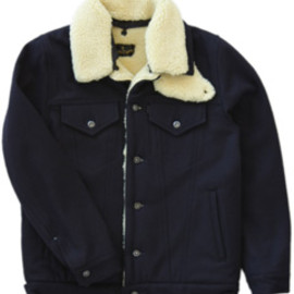 ANALOG LIGHTING - Levi's 3rd Jacket with boa (navy)