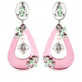 miu miu - MIRRORED DROP CLIP-ON EARRINGS