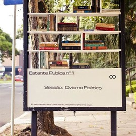 Bus Stop Library in Brazil