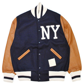 EBBETS FIELD FLANNELS - BLACK YANKEES 1940 VARSITY JACKET