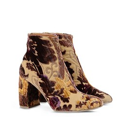 STELLA McCARTNEY - Floral-flocked ankle boots