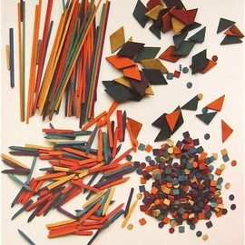 """""""Ninth Gift by Friedrich Fröbel:  Coloured Rods and Large Tesserae""""  19th century"""