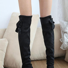 shoes - Image of  [grzxy61900051]European Style Sweet Bowknot Boot
