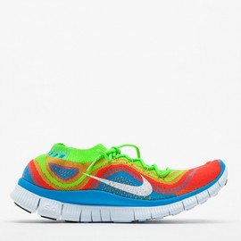 Nike - Nike Free Flyknit+ in Electric Green