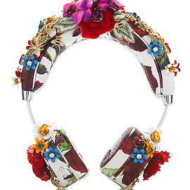 DOLCE&GABBANA - White Floral Rose Headphones